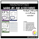 Alphabet & Handwriting Assessment and Stroke Warm Up Activities