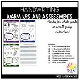 Alphabet & Letter Formation Assessment and Warm Up Task Cards