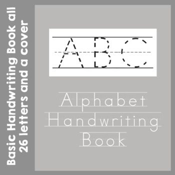 Alphabet Handwriting Book