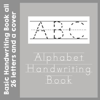 Alphabet Handwriting Book