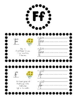 Alphabet/Handwriting Book - Teach Students Letter Formation with Cute Poems!