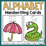 Handwriting Practice Cards {Alphabet Handwriting Practice}