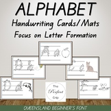 Alphabet Handwriting Cards/Mats - Queensland Beginners Font