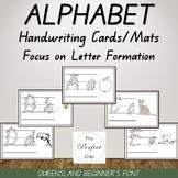 Alphabet Handwriting Cards/Mats - Queensland Beginners Font