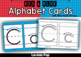 Alphabet Handwriting Cards with directional arrows - Red and Blue