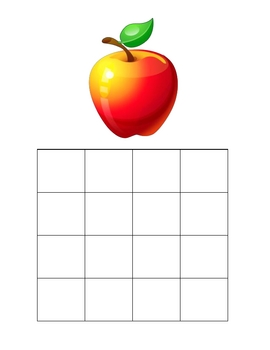 Alphabet Handwriting Grid with Key Pictures