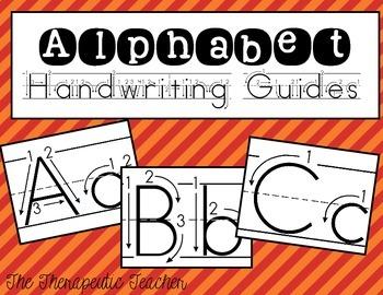 Alphabet Handwriting Guides FREEBIE