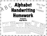 Alphabet Handwriting Homework