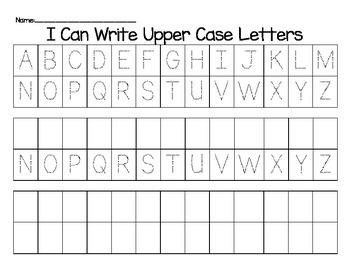 Alphabet Handwriting: I can write my alphabet!
