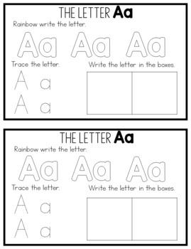 Alphabet Handwriting Mini-Books