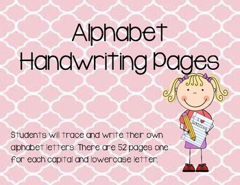 Alphabet Handwriting Pages