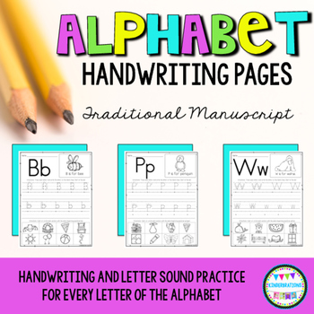 Alphabet Handwriting Pages-ABC Writing #memoriesdeal