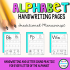 Alphabet Handwriting Pages-ABC Writing #christmasinjuly