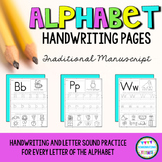 Alphabet ABC Handwriting Practice Pages | NO PREP | Distance Learning