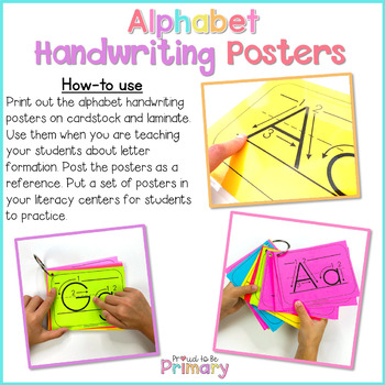 Alphabet Handwriting Posters