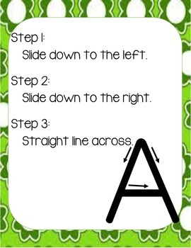 Alphabet Printing Posters (Handwriting Steps)