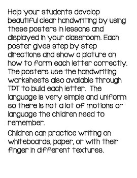 Alphabet Printing Posters (Handwriting Step by Step for each letter)
