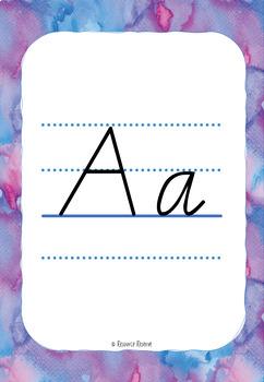 Alphabet Handwriting Posters - Modern Cursive font {Vic/WA/NT style}