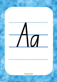 Alphabet Handwriting Posters - NSW style font {NSW/ACT/SA/Tas}