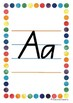 Alphabet Handwriting Posters - Queensland Beginners font (Rainbow border)
