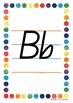 Alphabet Handwriting Posters - Queensland Beginners font (Rainbow border)