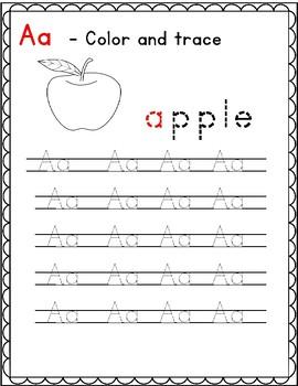 Alphabet Handwriting Practice - Manuscript