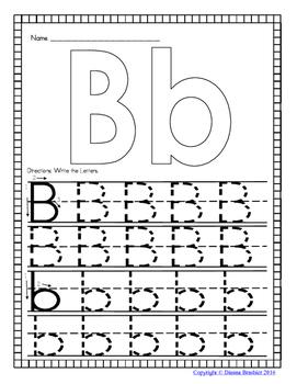 Alphabet Handwriting Practice Worksheets