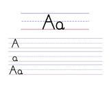 Alphabet Handwriting Practice