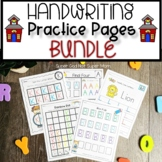 Alphabet Handwriting Practice Pages Bundle Uppercase Edition