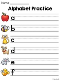 Alphabet Handwriting Practice (Alphabet Tracing Letters Worksheets)