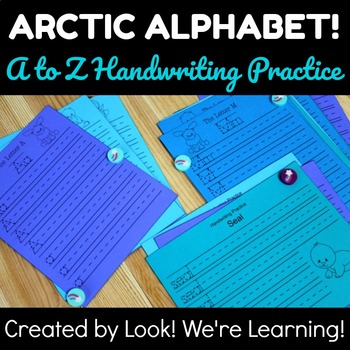Alphabet Handwriting Practice: Arctic Alphabet!