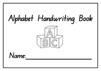 picture relating to Alphabet Booklets Printable known as Kindergarten Alphabet Handwriting Train Booklet - Printable - Solitary Seems