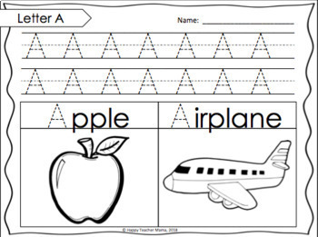 Alphabet Handwriting Print Practice | PDF & Digital for Distance Learning