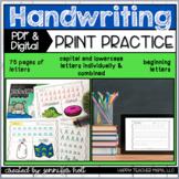 Alphabet Handwriting Print Practice   PDF & DIGITAL for Di