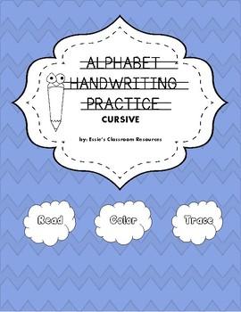Alphabet Handwriting Practice - Cursive