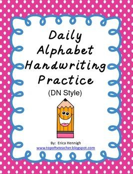 Alphabet Handwriting Practice (DN)