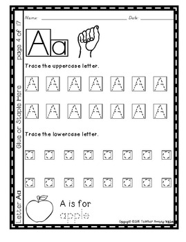 Alphabet Handwriting Practice - Letter Aa