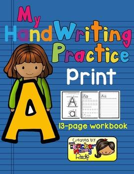 Alphabet Handwriting Practice - Letter Aa (PRINT)