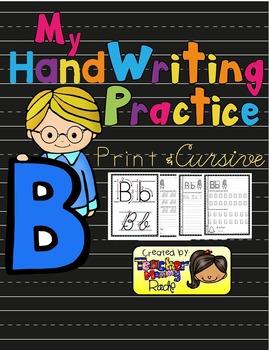 Alphabet Handwriting Practice - Letter Bb