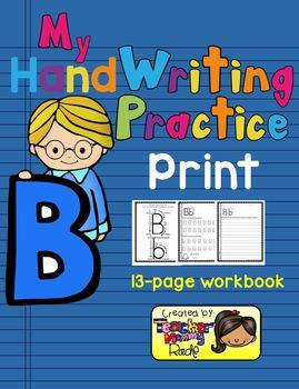 Alphabet Handwriting Practice - Letter Bb (PRINT)
