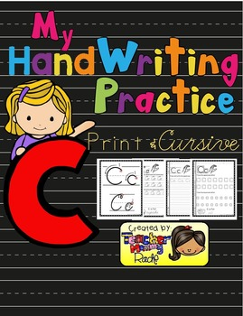 Alphabet Handwriting Practice - Letter Cc