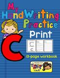 Alphabet Handwriting Practice - Letter Cc (PRINT)