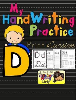 Alphabet Handwriting Practice - Letter Dd