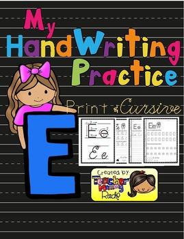 Alphabet Handwriting Practice - Letter Ee