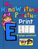 Alphabet Handwriting Practice - Letter Ee (PRINT)