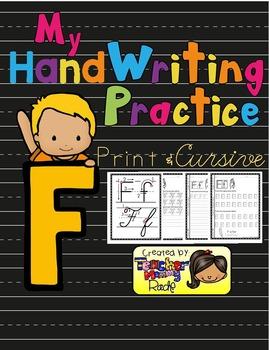 Alphabet Handwriting Practice - Letter Ff