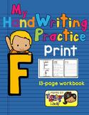 Alphabet Handwriting Practice - Letter Ff (PRINT)