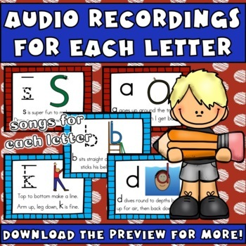 alphabet handwriting practice letter formation pages with songs and rhymes