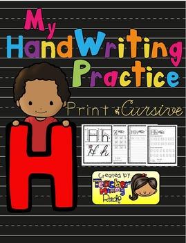 Alphabet Handwriting Practice - Letter Hh