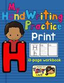 Alphabet Handwriting Practice - Letter Hh (PRINT)